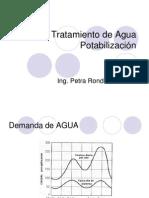 TRATAMIENTO de AGUA POTABILIZACIÓN.ppt