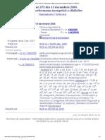 LEGE Nr 372 2005 Certificat Energetic