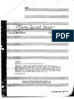 42nd Street The Musical Conductor's Score