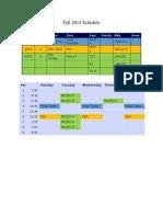 Class Schedule Fall 2014