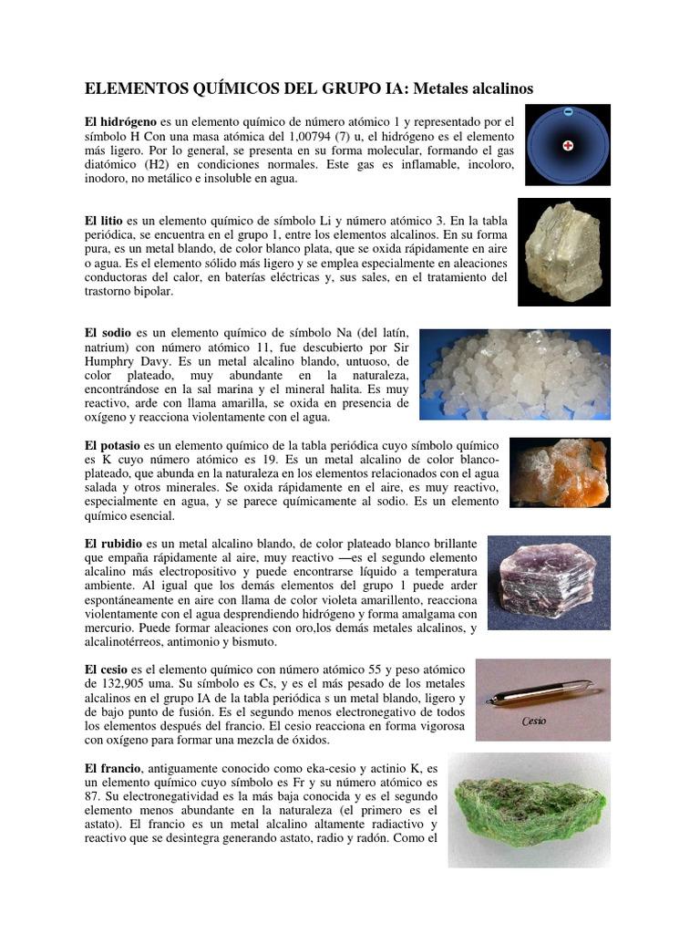 Elementos qumicos del grupo iacx urtaz Choice Image
