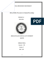 Role of Public Prosecutors in Indian Judicial System