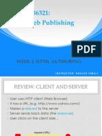 Week 2 HTML