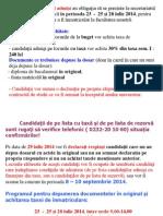 Anunt Post Admitere Licenta Iulie 2014