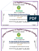 Cerfificate of Engl.language (Final 2014)