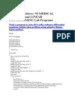 Numerical Lab
