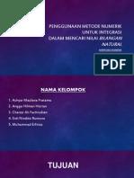Penggunaan Metode Numerik Untuk Integrasi