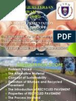 Recycled Asphalt Pavement Presentation Slide