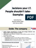 Six IT Decisions
