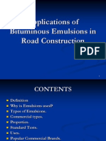 Applications of Bituminous Emulsions in Road Construction