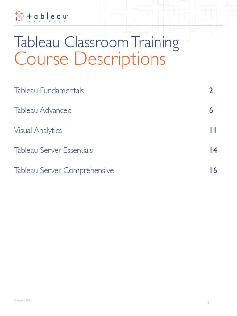 Tableau Syllabus Server Computing Analysis