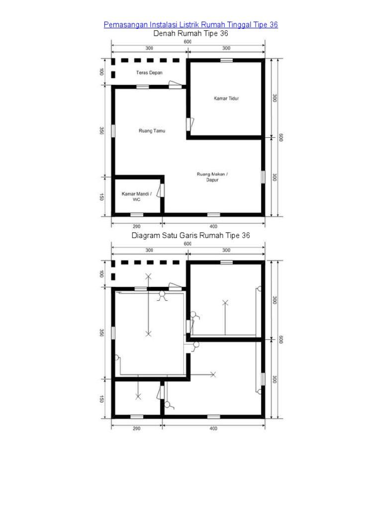 Pemasangan Instalasi Listrik Rumah Tinggal Tipe 36