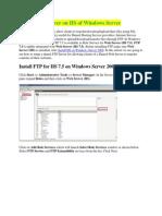 Install FTP Server on IIS Windows Server