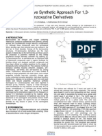 An Alternative Synthetic Approach for 13 Benzoxazine Derivatives