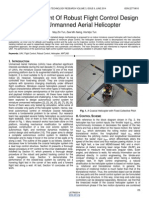 Development of Robust Flight Control Design for Unmanned Aerial Helicopter