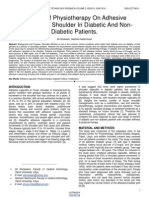 Efficacy of Physiotherapy on Adhesive Capsulitis of Shoulder in Diabetic and Non Diabetic Patients
