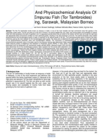 Microbiological and Physicochemical Analysis of Water From Empurau Fish Tor Tambroides Farm in Kuching Sarawak Malaysian Borneo