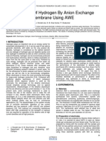 Production of Hydrogen by Anion Exchange Membrane Using Awe