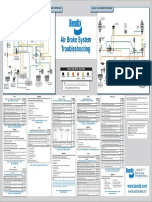 Bendix Air Brake System Schematic pdf | Brake | Valve