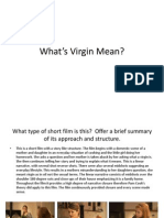 What's Virgin Mean - Analysis