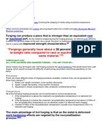 Squeeze Forging Properties