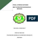 Proposal Usaha Catering  Mahasiswa