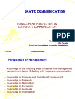 Lesson 2 - Management Perspective in Corporate Communication