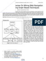 A Systematic Review on Mining Web Navigation Pattern Using Graph Based Techniques