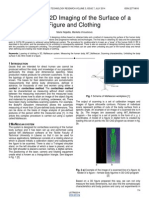 From 3d to 2d Imaging of the Surface of a Figure and Clothing