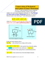 Conservation of Mechanical Energy, Linear Momentum