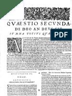 CT [1654 Ed.] t1 - 08 - Quaestio 2, De Deo an Deus Sit