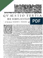 CT [1654 Ed.] t1 - 09 - Quaestio 3, De Simplicitate Dei
