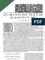 CT [1654 Ed.] t1 - 11 - Quaestio 6, De Bonitate Dei