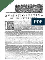 CT [1654 Ed.] t1 - 12 - Quaestio 7, De Infinitate Dei