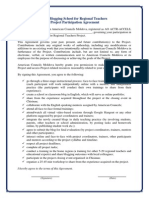 Project Participation Agreement