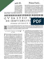 CT [1654 Ed.] t1 - 14 - Quaestio 9, De Immutabilitate Dei