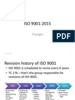 ISO 9001-2015 Changes
