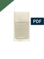 MilkandCo Men Face Moisturiser Sunscreen