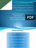 pelaksanaan sistem pembiayaan kesehatan di Indonesia