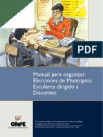 Manual para organizar elecciones de municipios escolares, dirigido a docentes - ONPE