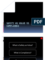 Safety as Value vs Compliance