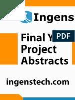 IEEE Projects 2014 - 2015 Abstracts - Zigbee 03