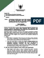 SE Menpu Tentang Pemberlakuan SBU SKA SKT Tahun 2013