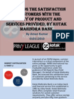 Presentation on Kotak mahindra bank