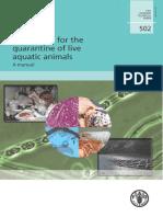 Procedure for the Quarantine of Live Aquatic Animals-FAO FISHERIES TECHNICAL PAPER 502