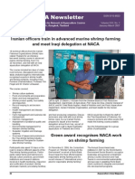 NACA Newsletter-Iranian Offi Cers Train in Advanced Marine Shrimp Farming and Meet Iraqi Delegation at NACA