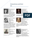 Famous Mathematician and Their Contributions
