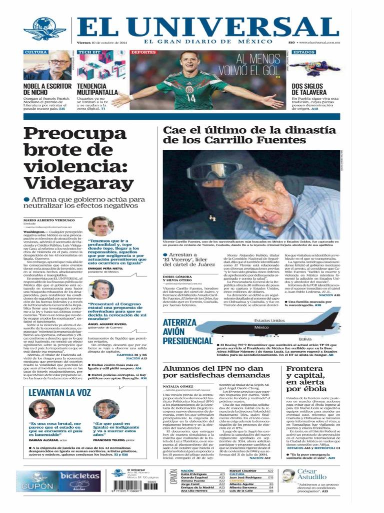 GradoCeroPress-Vier-10-Octubre-2014-Portadas de medios nacionales pdf