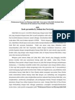 Artikel Pelaksanaan Konservasi Burung Jalak Bali