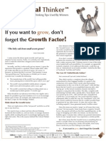 Critical Thinker Issue 6.2009 - Don't Forget The Growth Factor!